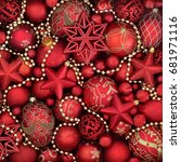 christmas abstract background... | Shutterstock . vector #681971116