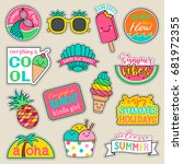 set of fashion patches  cute... | Shutterstock .eps vector #681972355