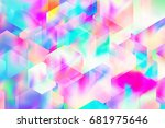 vintage holographic texture.... | Shutterstock .eps vector #681975646