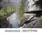 landscape in lauterbrunnen... | Shutterstock . vector #681979948