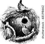 wren  troglodytes  | Shutterstock .eps vector #68198662