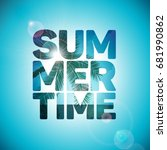 vector summer time holiday... | Shutterstock .eps vector #681990862