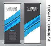 blue roll up business brochure... | Shutterstock .eps vector #681993886