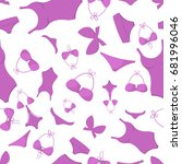 swimsuits seamless pattern... | Shutterstock .eps vector #681996046
