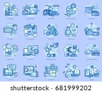 currencies conceptual design | Shutterstock .eps vector #681999202