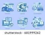 currencies conceptual design | Shutterstock .eps vector #681999262