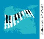 vector hand drawn piano... | Shutterstock .eps vector #681999622
