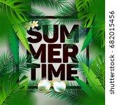 vector summer time holiday... | Shutterstock .eps vector #682015456