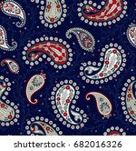 Paisley Pattern On Navy...