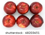 fresh red apple isolated on... | Shutterstock . vector #68203651
