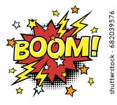 boom  phrase in speech bubble.... | Shutterstock .eps vector #682039576