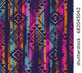 multicolor tribal vector... | Shutterstock .eps vector #682045042
