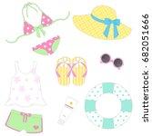 summer items | Shutterstock .eps vector #682051666