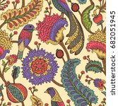 seamless pattern with fantasy... | Shutterstock .eps vector #682051945
