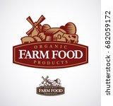 farm logo template. vector... | Shutterstock .eps vector #682059172