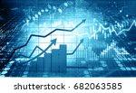 stock market report. 3d... | Shutterstock . vector #682063585