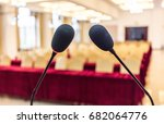 microphone in the conference... | Shutterstock . vector #682064776