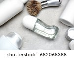 various cosmetic products with... | Shutterstock . vector #682068388