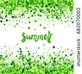 summer vector creative banner... | Shutterstock .eps vector #682070002