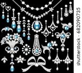 illustration set of jewelry... | Shutterstock .eps vector #682090735