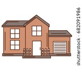 exterior house isolated icon | Shutterstock .eps vector #682091986
