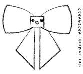 bown ribbon decorative kawaii...   Shutterstock .eps vector #682096852