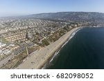 aerial view of torrance beach... | Shutterstock . vector #682098052