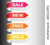 set of labels   sale  new  free ... | Shutterstock .eps vector #68211391