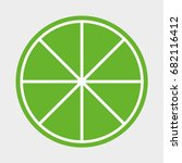 orange icon. lemon icon. | Shutterstock .eps vector #682116412
