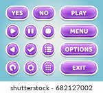 set of purple candy buttons for ...