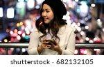outdoor portrait of beautiful... | Shutterstock . vector #682132105