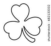 saint patrick clover icon | Shutterstock .eps vector #682133332