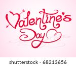 valentine s day lettering with... | Shutterstock .eps vector #68213656