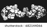 vector illustration  two... | Shutterstock .eps vector #682144066