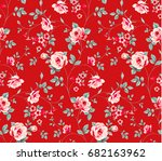 seamless floral pattern. pink... | Shutterstock .eps vector #682163962