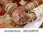 indian marriage... | Shutterstock . vector #682168945