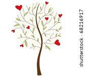 abstract heart tree. | Shutterstock .eps vector #68216917