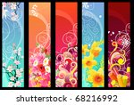 Five Different Colorful Floral...
