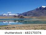 landscape between tsomoriri... | Shutterstock . vector #682170376