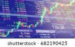 stock market index analysis... | Shutterstock . vector #682190425