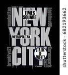 new york city typography  t... | Shutterstock .eps vector #682193662