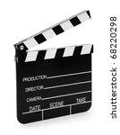 real vintage wooden film slate... | Shutterstock . vector #68220298