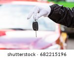 close up of a valet wearing... | Shutterstock . vector #682215196