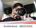 side view of a private... | Shutterstock . vector #682215202