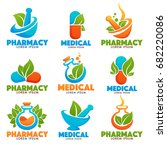 eco pharmacy  glossy shine logo ...