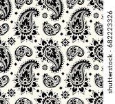 seamless paisley pattern | Shutterstock .eps vector #682223326