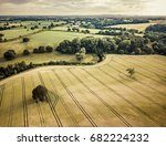 cheshire countryside aerial view | Shutterstock . vector #682224232