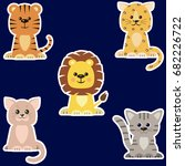 set of different kinds of cats...