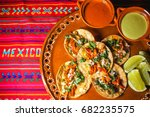 tacos  mexico cuisine  mexican... | Shutterstock . vector #682235575
