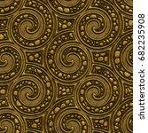 golden seamless texture with a... | Shutterstock . vector #682235908
